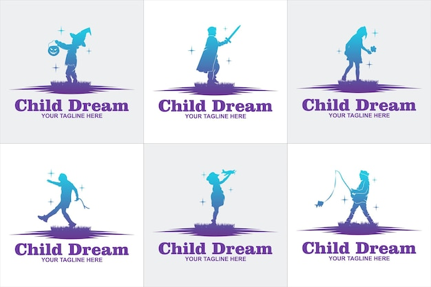 Красочный ребенок достигая звезды логотип вектор, шаблон дизайна логотипа образования, концепция дизайна, логотип, элемент логотипа для шаблона