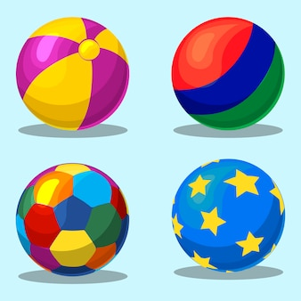 Colorful children s flatable ball