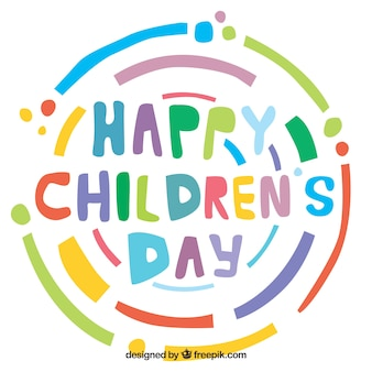 Colorful childrens day design