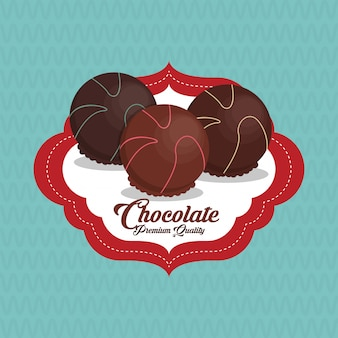 Colorful chocolate  illustration, sweet and delicious