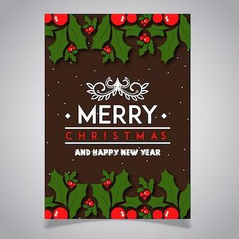 Colorful christmas brochure designs