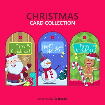 Colorful christmas card collection