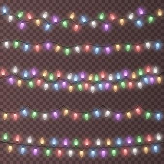 Красочные рождественские гирлянды