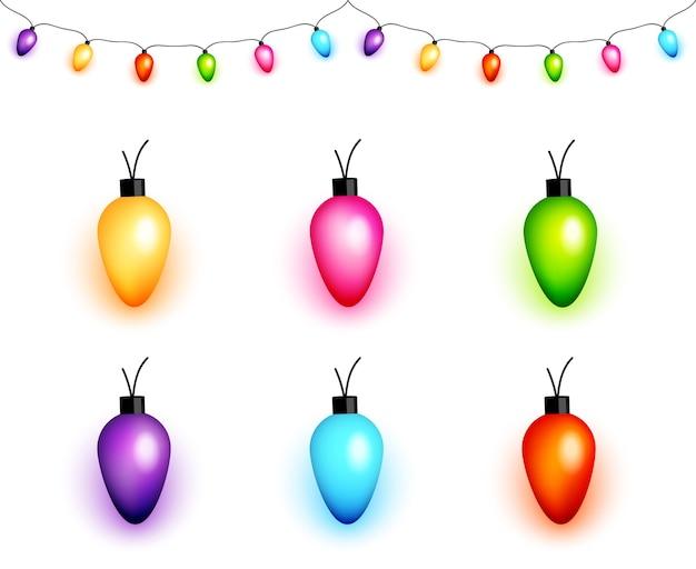 Красочные рождественские лампочки