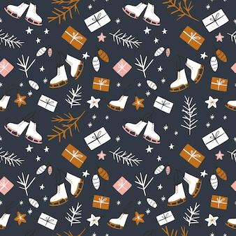 화려한 크리스마스 원활한 pattern.vector 그림