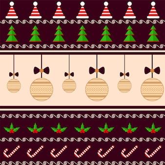 カラフルなクリスマスのテーマのシームレスなパターンの背景。