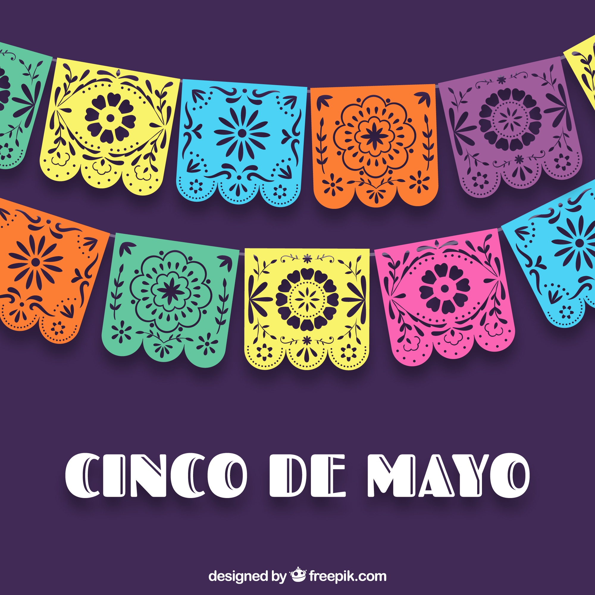 Colorful cinco de mayo background