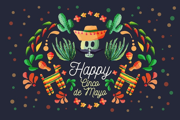 Carta da parati colorata cinco de mayo