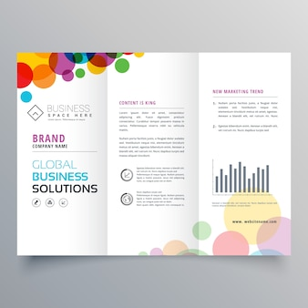 Colorful circle abstract trifold brochure design