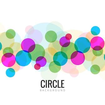 カラフルな円の背景