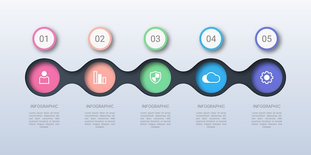 Colorful circle business infographic template