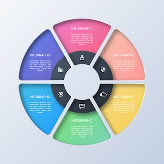 Colorful circle business infographic