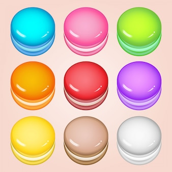 Colorful circle cookies for match 3 games.