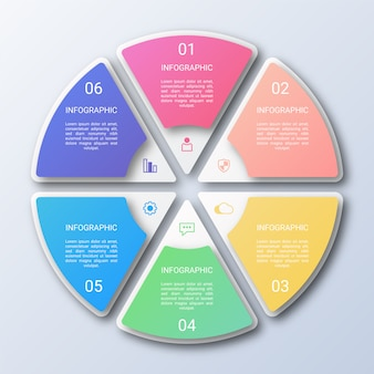 Colorful circle infographic template