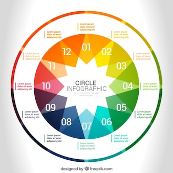 Cerchio colorato infografica