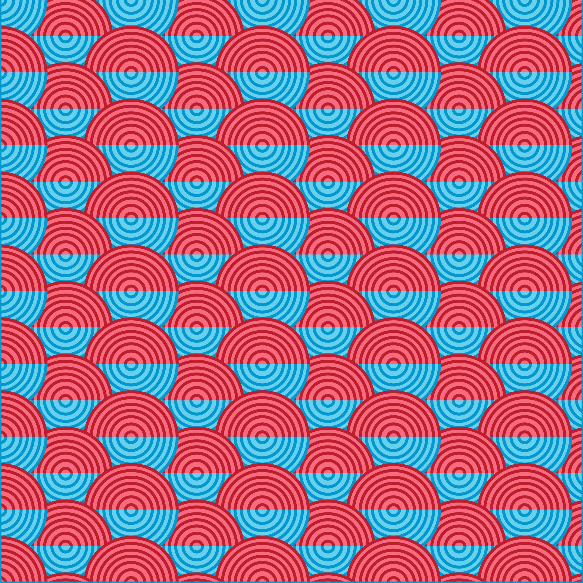 Colorful circle waves background