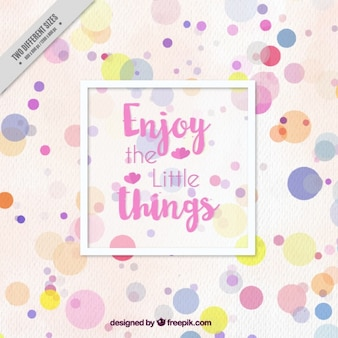 Colorful circles background with inspiring phrase