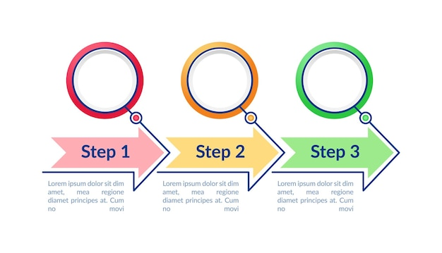 Colorful circles infographic template