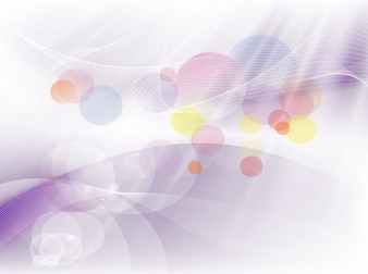 Colorful circles swirls motion vector