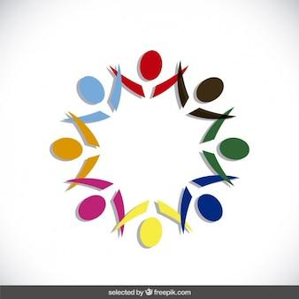 Colorful circular abstract logo