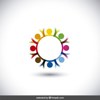 Colorful circular logo