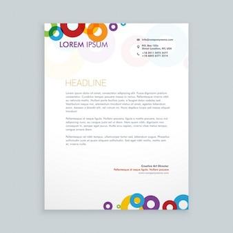 다채로운 원형 편지지