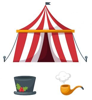 Colorful circus set