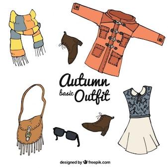 秋のためのカラフルな服