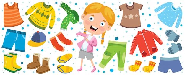 Красочная одежда для маленьких детей