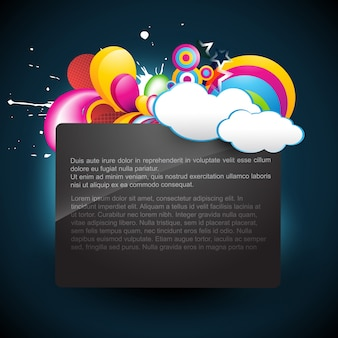 Colorful cloudy text template