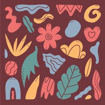 Collezione colorata di forme astratte