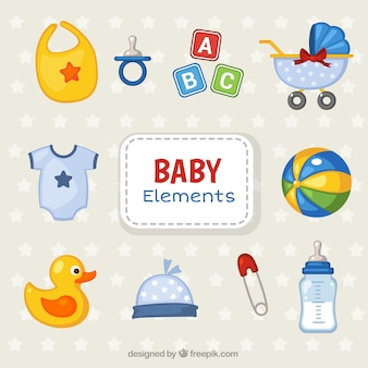 Colorful collection of objects for babies
