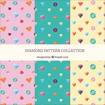 환상적인 귀중한 보석과 패턴의 화려한 컬렉션