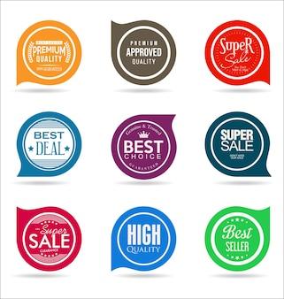 Красочная коллекция значков и наклеек качества продажи