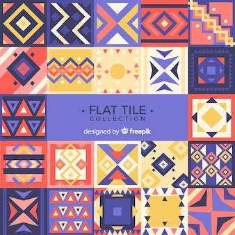 Colorful collection of tiles