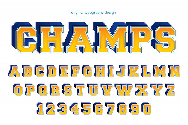 Colorful college style typography design