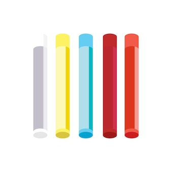 Colorful color crayons isolated on white background