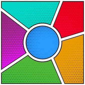 Colorful comic book template