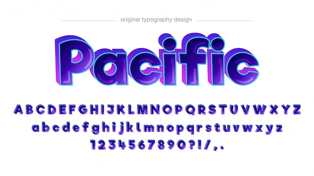 Colorful comic typography design