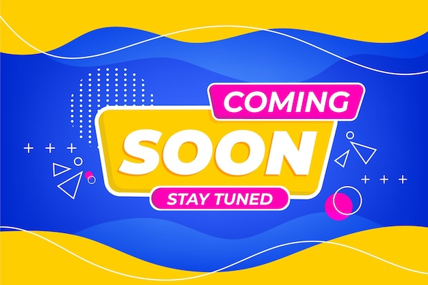 Colorful coming soon background Premium Vector
