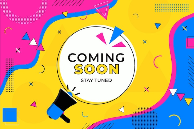 Colorful coming soon background