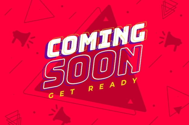 Colorful coming soon promo background