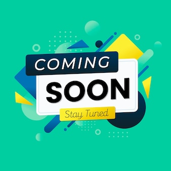 Colorful coming soon promo wallpaper