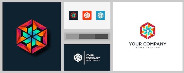 Красочный шаблон дизайна логотипа сообщества