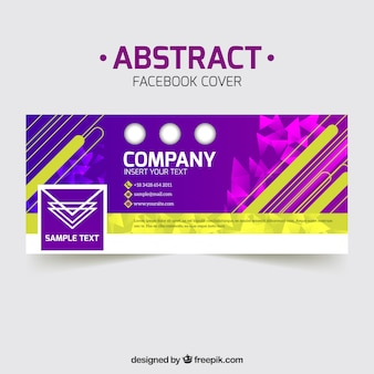 Colorful company abstract facebook cover