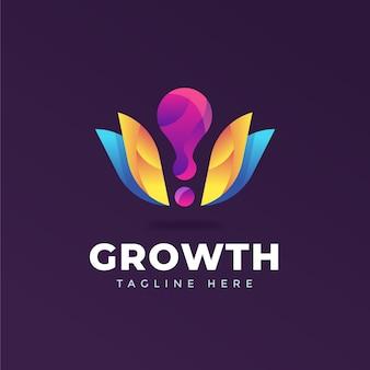 Modello di logo aziendale colorato con slogan