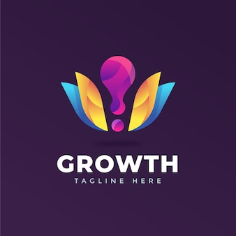 Красочный шаблон логотипа компании с слоганом