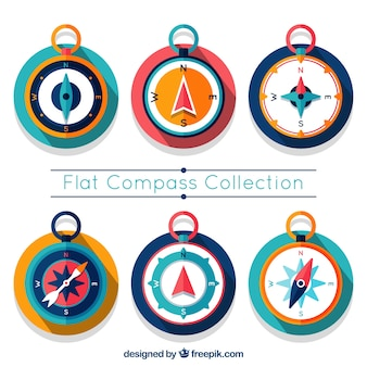Colorful compass set