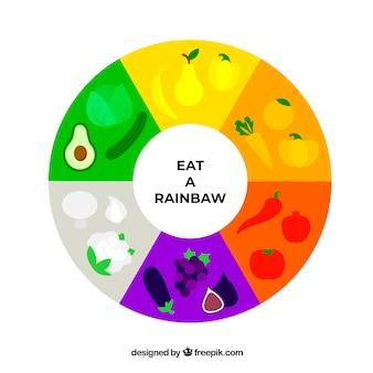 건강 식품으로 다채로운 구성