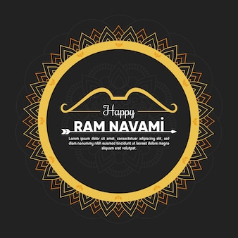 Colorful concept for ram navami day event